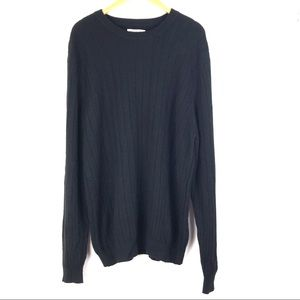 JOHN NORDSTROM cashmere sweater XL black knit t209